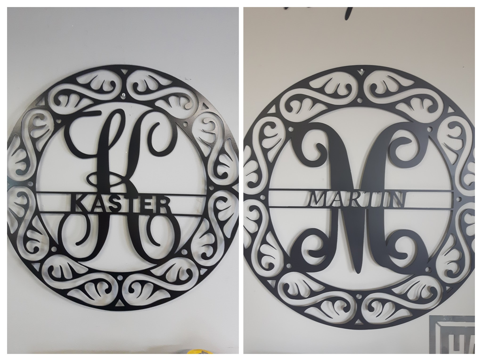 Fancy Circle Split Monogram